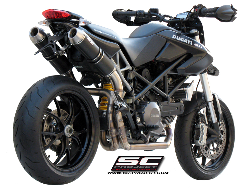 Full Exhaust System 2-2, with Pair of GP-EVO Mufflers, black stainless Steel