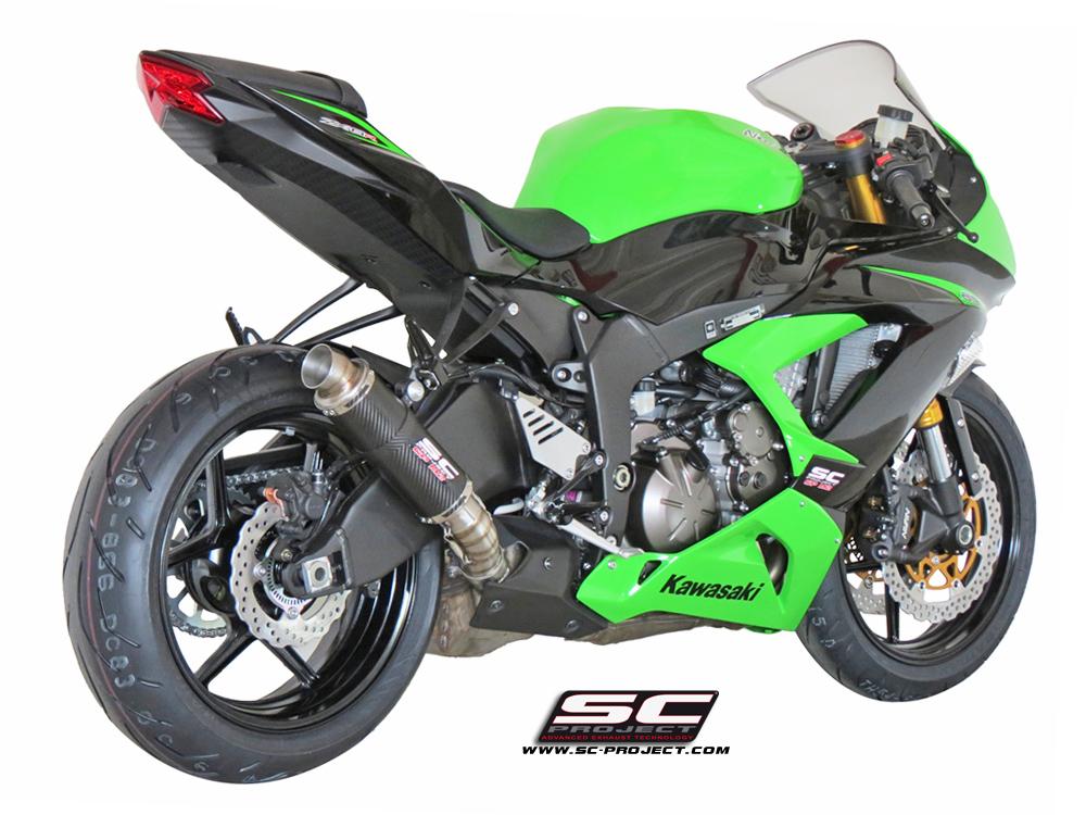 Kawasaki Ninja Zx 6r 636 2017 Gp M2 Ler Carbon Fiber With Cnc Machined Exit Pipe