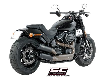 Harley Davidson Fat Bob >> Pair Of Gp Evo Mufflers Black Brushed Stainless Steel