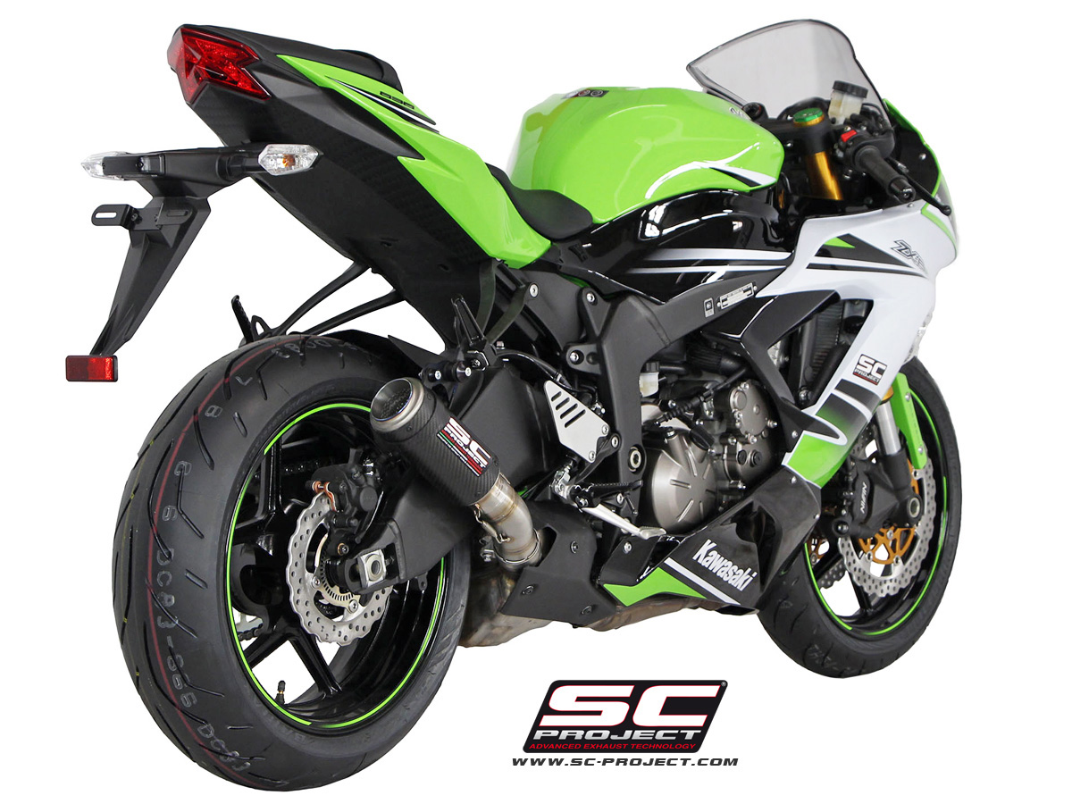 Kawasaki Ninja Zx 6r 636 2017 Silencieux Cr T En Fibre De Carbone
