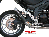GP-EVO Muffler, low position, Carbon fiber