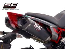 Pair of SC1-M Mufflers, Carbon fiber, with Carbon fiber end cap