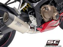 Full Exhaust System 4-1, with SC1-R Muffler, with Carbon fiber end cap